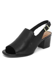 Sandália Malu Super Comfort Fechada Preta