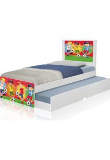 Bicama Juvenil Adesivada Futebol Meninos Casah - Multicolorido - Menino - Dafiti