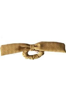 Elástico De Cabelo Scrunchie Ania Store Laço Dourado