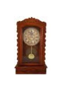 Relógio De Parede Antigo Em Madeira Com Pêndulo Decoração Ambiente Retrô