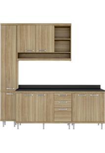 Cozinha Compacta Multimóveis Sicília 5813.132.132.610 Argila Se