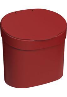 Lixeira Basic Com Tampa 4 Litros 22,8X15,6X22,4Cm Vermelho Bold - 10902/0465 - Coza - Coza