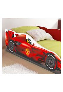 Cama Carro Solteiro F1 Rpm - Fórmula F1 - Vermelho - Lojas Rpm