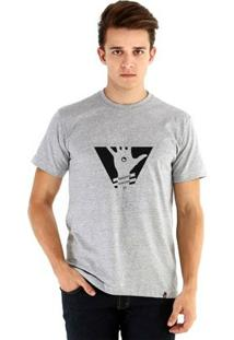 Camiseta Ouroboros Manga Curta Mente Aberta - Masculino-Cinza