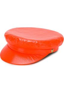 Manokhi Vinyl Biker Hat - Laranja