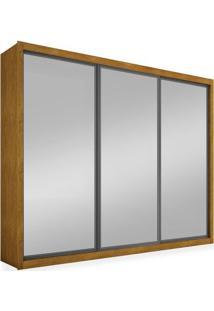 Guarda-Roupa 3 Portas Com Espelho, Imbuia, Boston Ii