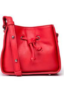 AMARO. Bolsa Feminina Sintética Bucket Amaro Vermelha Mini d9b7b235ad9
