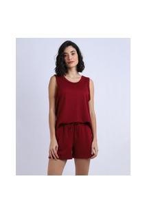 Pijama Feminino Regata Vermelho