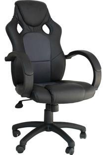 Cadeira Office Gamer Racer -Rivatti - Preto / Cinza