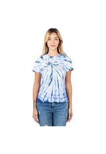 Camiseta Nicoboco T Shirt Basica Tie Dye Daisy. - Azul (76018)