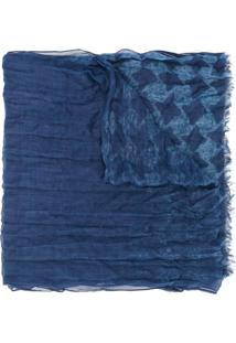 John Varvatos Echarpe Pied-De-Poule - Azul