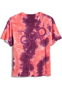 Camiseta Gap Tie Dye Rosa/Roxa