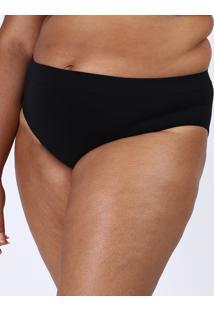 Calcinha Lupo Plus Size Básica Sem Costura Preta
