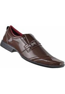 Sapato Social D&R Shoes Masculino - Masculino-Marrom