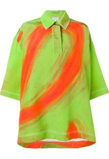 Loewe Camisa Polo Oversized - Verde
