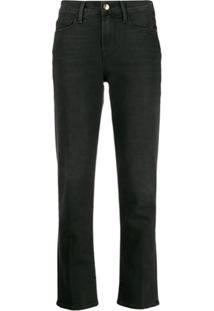 Frame Calça Jeans Reta Cropped - Preto