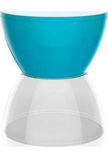 Banco | Banqueta Hydro Polipropileno Azul E Cristal I'M In
