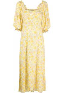 Faithfull The Brand Vestido Com Estampa Floral - Amarelo