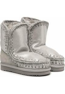 Mou Kids Ankle Boot Esquimó - Prateado
