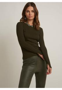 Blusa Bobô Diana Verde Feminina (Verde Militar, M)