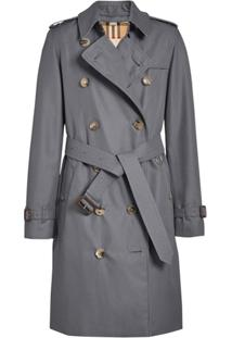 Burberry The Kensington Heritage Trench Coat - Cinza
