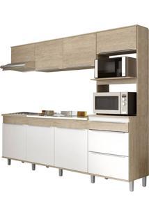 Cozinha Decibal Cs673P Com Pé Acácia/Nature Se
