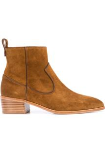 Veronica Beard Ankle Boot - Marrom