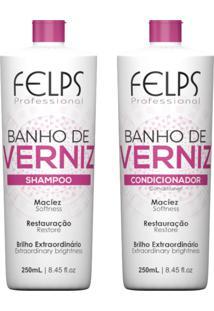 Kit Duo Brilho Felps Profissional Banho De Verniz 2X250Ml