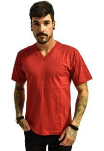 Camiseta Rich Young Gola V Básica Lisa Vermelha