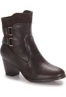 Ankle Boots Feminina Mooncity - Cafe