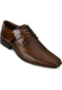 Sapato Social Promais Masculino - Masculino-Marrom