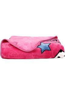 Cobertor Solteiro Jolitex Raschel Disney Rosa Pink
