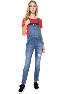 Macacão Calvin Klein Jeans Destroyed Azul