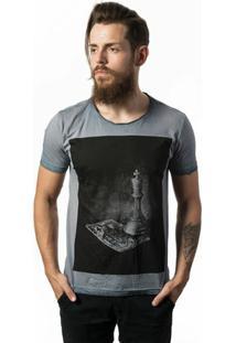 Camiseta Estonada Skull Lab King - Masculino-Cinza