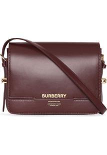 Burberry Bolsa Grace Pequena De Couro - Vermelho