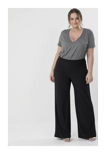 Body Liso Com Decote V Curve & Plus Size