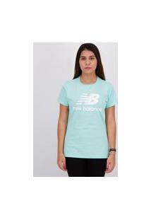 Camiseta New Balance Essentials Stacked Feminina Verde