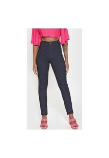 Calça Jeans Lez A Lez Skinny Recortes Azul-Marinho