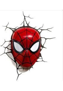 Luminária 3D Light Fx Marvel - Máscara Homem Aranha