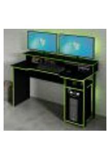 Mesa Gamer Master Preta E Verde