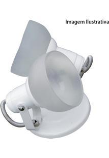 Spot Branco Com Vidro Fosco Para 2 Lâmpadas Ref. 450/2