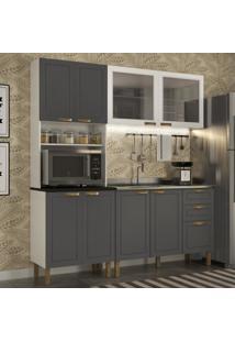 Cozinha Completa 3 Peã§As Americana Multimã³Veis 5905 Branco/Grafite - Branco/Incolor - Dafiti