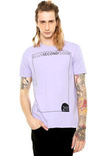 Camiseta Ellus 2Nd Floor Square Roxa