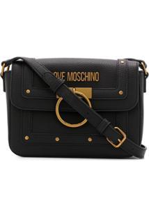 Love Moschino Bolsa Tiracolo Com Aplicação De Tachas - Preto