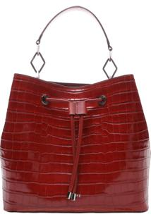 New Bucket Bag Croco Red | Schutz