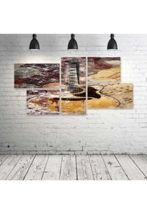 Quadro Decorativo - Art-(2) - Composto De 5 Quadros - Multicolorido - Dafiti