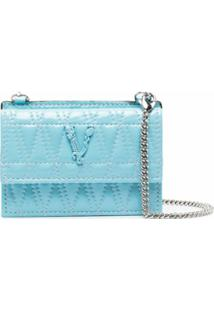 Versace Carteira Virtus Matelassê - Azul