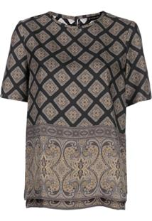 Etro Mixed Print Blouse - Preto