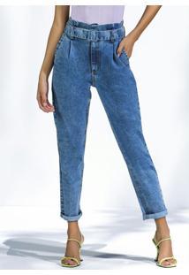 Calça Clochard Em Jeans Jeans Medio