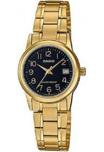Relógio Feminino Casio Analógico Ltpv002G1Budf - Unissex-Dourado